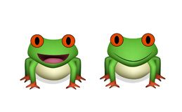 Vue de face, grenouille rouge de l'oeil 3D dans le vecteur illustration libre de droits