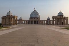 Vue de face de la basilique de notre Madame de paix Image stock