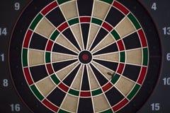 Vue de face de panneau de dard, avec le score et les différents niveaux du but photos libres de droits
