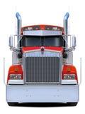 Vue de face rouge de Kenworth w900 de camion Image stock