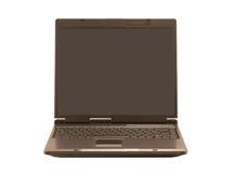 Vue de face sur l'ordinateur portatif (d'isolement) Photo libre de droits