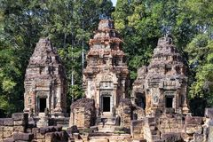 Vue de face de temple de Preah Ko, Cambodge Photographie stock