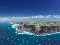Vue de falaise - extrémité de cordons photos libres de droits