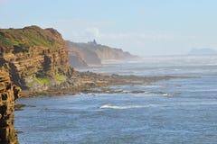 Vue de falaises de coucher du soleil Photographie stock libre de droits