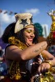 Vue de femme dans de Brasilia typique, partie de Junina image libre de droits