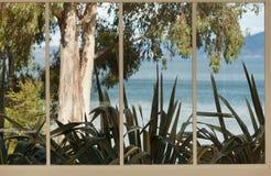 Vue de fenêtre Photos stock