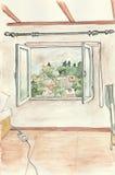 Vue de fenêtre Image libre de droits