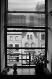 Vue de fenêtre de New York City Images stock