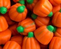 Vue de fin de sucrerie de potiron de Halloween photo stock