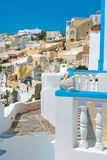 Vue de Firostefani dans Santorini Photographie stock