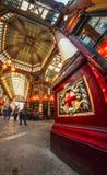 Vue de Fisheye d'intérieur de marché de Leadenhall, la ville, Londres, Angleterre, Royaume-Uni, l'Europe images stock