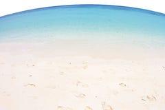 Vue de Fisheye de mer et de plage au rok de KOH, krabi, Thaïlande image stock