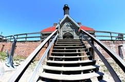 Vue de Fisheye du phare d'île du feu Photo stock