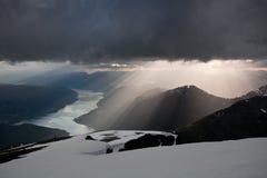 Vue de fjord photo stock