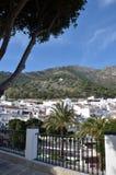 Vue de flanc de coteau de Mijas Espagne Image libre de droits