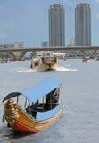 Vue de fleuve de Bangkok Images libres de droits