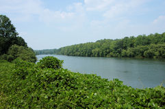 Vue de fleuve de Catawba image stock