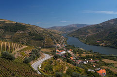 Vue de fleuve de Douro Images stock