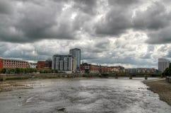 Vue de fleuve de Limerick Image libre de droits
