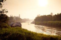 Vue de fleuve de matin. Photographie stock libre de droits