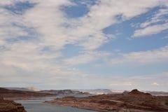 Vue de fond de Glen Canyon Dam Photos libres de droits