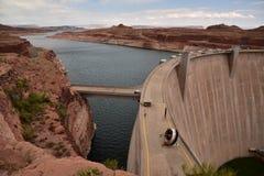 Vue de fond de Glen Canyon Dam Photo libre de droits