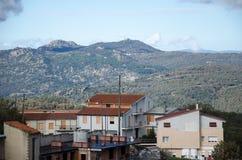 Vue de Fonni, Sardaigne image libre de droits