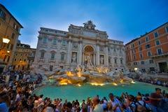 Vue de fontaine de Di Trevi photo libre de droits