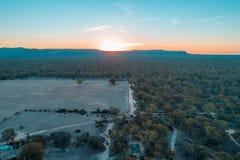 Vue de forêt indigène en parc national de Grampians photographie stock libre de droits