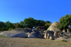 Vue de formation de roche de Beglik Tash, Bulgarie Photo libre de droits