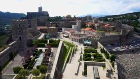 Vue de forteresse de château d'Akhaltsikhe Rabati de complexe entier banque de vidéos
