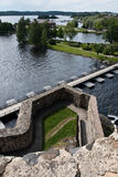 Vue de forteresse d'Olavinlinna Images stock