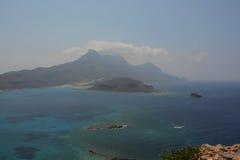 Vue de forteresse de Gramvousa, Crète La Grèce photo stock