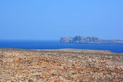 Vue de forteresse de Gramvousa, Crète La Grèce images libres de droits