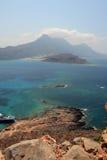 Vue de forteresse de Gramvousa, Crète La Grèce photos libres de droits