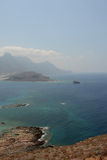 Vue de forteresse de Gramvousa, Crète La Grèce photo libre de droits
