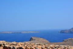 Vue de forteresse de Gramvousa, Crète La Grèce image libre de droits