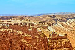Vue de forteresse de Masada, Israël Est une fortification antique dans le secteur du sud de l'Israël images libres de droits