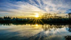 Vue de Fraser River en Colombie-Britannique, Canada photos stock