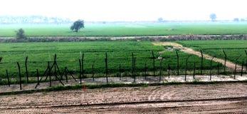 Vue de frontière de l'Inde - du Pakistan images libres de droits