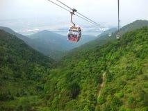 Vue de funiculaire en Hong Kong Image libre de droits