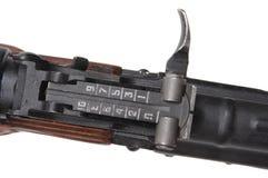 Vue de fusil d'assaut Photo libre de droits