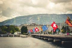 Vue de Genève Image libre de droits