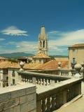 Vue de Girona Photos libres de droits