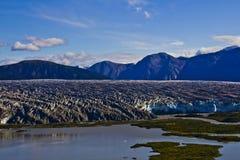 Vue de glacier de Mendenhall d'en haut Photographie stock libre de droits