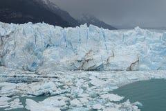 Vue de glacier de Perito Moreno de Calafate, Argentine Images stock