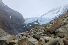 Vue de glacier de Piedras Blancas, EL Chalten, Patagonia photographie stock