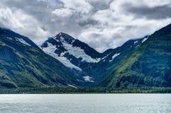 Vue de glacier de Whittier en Alaska Etats-Unis d'Amérique photos stock