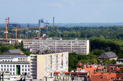 Vue de Gliwice en Pologne photo stock
