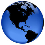 Vue de globe - Amérique Photos libres de droits